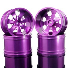 Purple Wheels Canada - RC HSP 08008N Purple Alum Wheel 4P Rims D:78mm W:50mm For HSP 1:10 Monster Truck