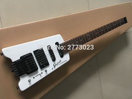 headless guitars 2019 - Custom Shop Alpine White Steinberger Spirit Headless Electric Guitar EMG Pickups Tremolo Bridge Black Hardware Top Selli