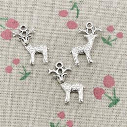 $enCountryForm.capitalKeyWord Australia - 65pcs Charms sika deer 23*20mm Tibetan Silver Vintage Pendants For Jewelry Making DIY Bracelet Necklace