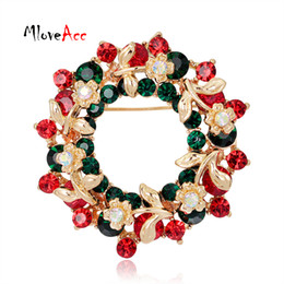 garland rhinestone floral brooches pins women christmas gifts for the new year fashion christmas brooch jewelry cheap wholesale gold christmas garland