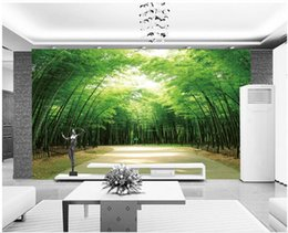 fireproof fabrics wholesale Australia - Beautiful atmosphere bamboo forest murals TV backdrop wall mural 3d wallpaper 3d wall papers for tv backdrop
