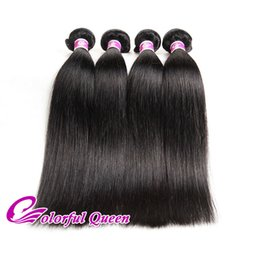 Human Hair Bundles 4pcs Canada - Colorful Queen Cheap Indian Silky Straight Virgin Hair Bundles 4pcs Human Hair Extensions Natural Raw Indian Straight Hair Weaves 8-26Inches