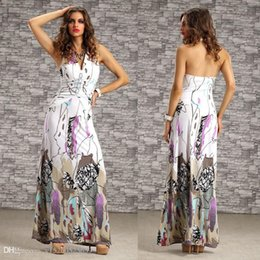 plus size maxi dress xxl 2019 - Wholesale-Plus Size M XXL Women Summer Dress 2016 Halter Neck Floral Print Beach Dress Floor Length Bohemian Casual Maxi