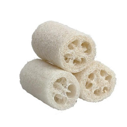 natural scrubber loofah wholesale Canada - 3PCs Natural Bath Sponge Loofah Vegetable Sponge Shower Wash Body Sponge Scrubber Spa