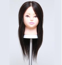 Practice hair head online shopping - Free delivery Professional quot human hair Beautiful Hairdressermakeup practice head can be cut fine M00607