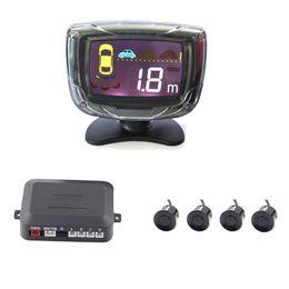 Radar Backup Car Canada - 4 Parking Sensors LCD Screen Display PZ312 Car Parking Sensor System Car Reverse Backup Radar Kit With Many Kinds of Colours