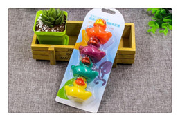 Cute Rubber Ducks Canada - 4Colors Cute PVC Duck Baby Bath Water Toys Sounds Rubber Ducks Kids Bathing Swiming Beach Gifts Sand Play Water Fun Kids Toys