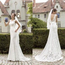 Wholesale Empire Lace Brautkleid Backless Neueste Design Garten Prinzessin Schloss Mantel Brautkleid Moderne Maßgeschneiderte Romantische Schärpe Weiß Elfenbein