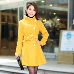 $enCountryForm.capitalKeyWord Canada - 2016 Women Trench Coat Spring Winter Warm Long Outwear Work Suits Korean Style Turn Down Collar Elegant Belt Ladies Coat A421