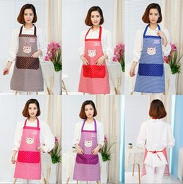 cute aprons Australia - 1PC Korean lovely cute home printing waterproof aprons Korean fashion work Pastry Tools LB 414