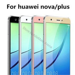 """Discount mobile phones coverage - For Huawei Nova Plus Screen Protector Tempered Glass Full Cover Coverage 5"""" 9h 2.5D Protective Film Guard Mobile Ph"""