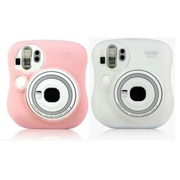 $enCountryForm.capitalKeyWord Canada - Luminous Glow Silicone Camera Bag Case For Fujifilm Polaroid Instax Mini25 Pink White