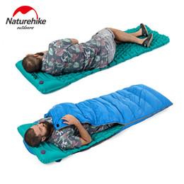 Air Camping Car Canada - Naturehike Outdoor Inflatable Cushion Sleeping Bag Mat Fast Filling Air Moistureproof Camping Mat With Pillow Sleeping Pad 460g