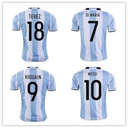ebbcd9f5f5d ... Wholesale New Argentina World Cup soccer Jersey 17 18 MESSI home DI  MARIA AGUERO thai quality ...