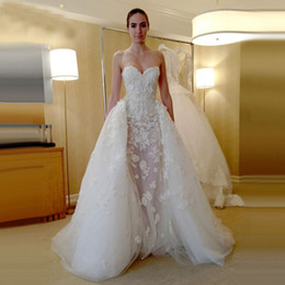 Garden Fairy Wedding Dress Canada - 2019 Overskirts Sweetheart Wedding Dresses fairy White Applique Lace-up Custom Ivory Exquisite plus size Ball Bridal Gowns dress