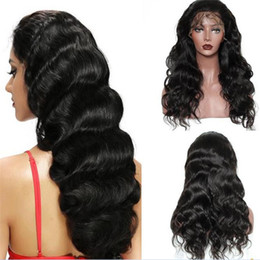 $enCountryForm.capitalKeyWord UK - Stock human hair wig 1b loose wave virgin malaysian hair high ponytail lace front wig free shipping