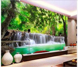 RiveRs photos online shopping - Customized d photo wallpaper d wall murals wallpaper jungle river waterfall adornment picture d living room wallpaper