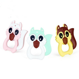 Silicone Teether Wholesale Canada - 6 pcs MIX Silicone Squirrel Baby teether  Toys ec71f22c0