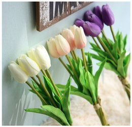 Aritificial Silk Flower Tulip Bouquet In3 Colors With 6 Pieces For Home Decoration Wedding Handmade