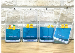 Silicone Duck Iphone Cases Canada - Silicone Case Silicon CasesSmall Yellow Duck Liquid Body Sand Mobile Shell Raspberry Swimming Protection Case for iPhone6 Plus