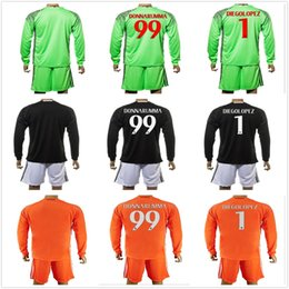 2467a5d4c ... 2016-17 Long AC Milan Goalkeeper Kits Soccer Jerseys 99 Gianluigi  Donnarumma Soccer Sets Gabriel ...