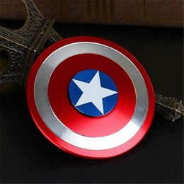 Captain ameriCa shield hand spinner online shopping - Captain America Shield Hand Spinner Iron Man Fidget Alloy Puzzle Toys EDC Autism ADHD Finger Gyro Toy Adult OTH443