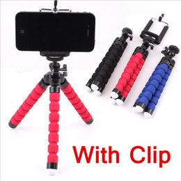 Cell Phone Monopod Canada - Flexible Tripod Holder For Cell Phone Car Camera Gopro Universal Mini Octopus Sponge Stand Bracket Selfie Monopod Mount With Clip