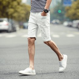 Discount White Denim Shorts For Men | 2017 White Denim Shorts For ...