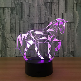 $enCountryForm.capitalKeyWord Canada - 3D Zebra Illusion Night Lamp 7 RGB Colorful Lights USB Powered with Battery Bin Touch Button Wholesale Dropshipping