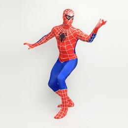 $enCountryForm.capitalKeyWord Canada - Classic 2017 Red Blue Lycra Spandex Full body Spiderman Zentai Suit Halloween Superhero Spider-man Cosplay Costumes For 2017