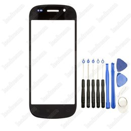 $enCountryForm.capitalKeyWord Canada - 50PCS Front Outer Touch Screen Glass Replacement for Samsung Google Nexus S I9020 with Tools