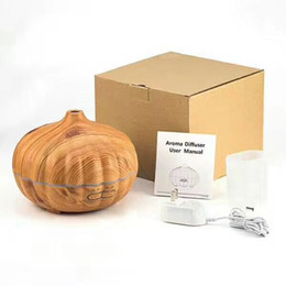 portable face humidifier Australia - Halloween 500ml Pumpkin Style Ultrasonic Essential Oil Aromatherapy Scent Diffuser Cool Mist Wood Grain Aroma Humidifier Diffuser