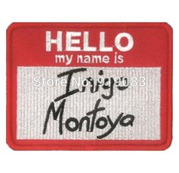 $enCountryForm.capitalKeyWord Canada - The Princess Bride Hello my name is Inigo Montoy patch Comics tv movie Embroidered Emblem applique iron on patch costume