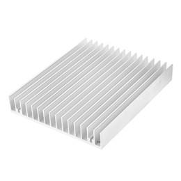 aluminium casing 2019 - Wholesale- Silver Tone Aluminium Heat Diffuse Heat Sink Cooling Fin 120x100x18mm cheap aluminium casing