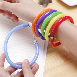 $enCountryForm.capitalKeyWord Canada - DHL Stationery Gift Pen Bracelet Wrist Pen Children Deformable Flexible Bend Stationery Gift Keepsakes Color Finesse Pen