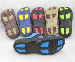 Eva Clog Canada - Hot Summer Mens Mules Clogs Eva Material Lightly Beach Garden Shoes Man Slippers Clog Shoe Slipper Men Fashion Casual Sandal 5Color SLM515