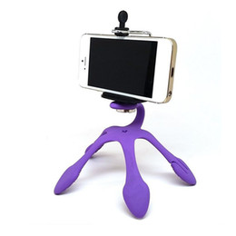 Wholesale Portable Universal Flexible Gecko Mini Tripod Mount Multi Function Phone Camera Stand Octopus Spider Holder For All Phones android HOT DHL
