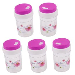 Plastic Toothpick Wholesale Australia - Wholesale- UXCELL Fuchsia Plastic Spice Jar Toothpick Holder Container Dispenser 80 X 46Mm 5Pcs