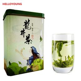 Hot packs food online shopping - Hot sales New Chinese Top Grade West Lake Spring Longjing Green Tea Dragon Well Tea Long Jing Gift Packing China Green Food