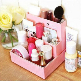 Sorting boxeS online shopping - Paper Containing Box Self Produced Solid Boxs Cosmetics Sorting Desktop Finishing Durable Practical Firm Collapsible DIY Case dl J R