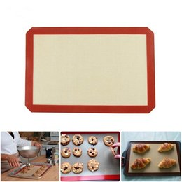 BBq grilling pans online shopping - Nonstick Silicone Baking Mat BBQ Grill Baking Mats cm Reusable Pad Sheet Bake Cooking Kitchen Accessories OOA1995