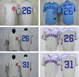 0665db41 ... 31 Fergie Jenkins Jersey Chicago Cubs Mens 1968 1969 Throwback Vintage  Stitched 26 Billy Williams Baseball ...