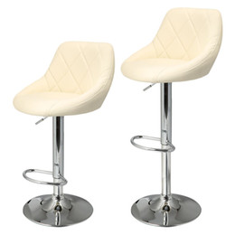 Swivel Bar Chairs NZ - 2pcs Synthetic Leather Swivel Bar Stools Chairs Height Adjustable Pneumatic Heavy-duty Counter Pub Chair Barstools