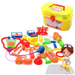 role playing games 2020 - New Educational Toys Pretend Play Doctor Nurse Kit For Kids Role Playing Games Doctor Play Sets Medical Kit cheap role p