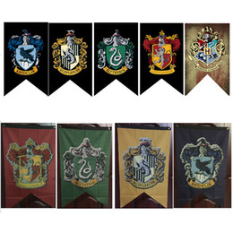 Discount harry potter colleges - 75*125cm Large Size Harry Potter Flags Gryffindor Hufflepuff Slytherin Ravenclaw Flag Hogwarts College Flag Home Decor P