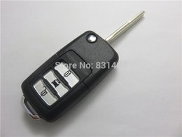 Button Remote Key Shell Canada - 3 buttons key case shell for chevrolet Captiva with left key blade logo included replacement folding remote car key case for chevrolet