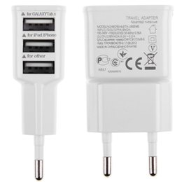 samsung tab dock charger NZ - High Qality US EU Plug 5V 2.0A 3 USB Ports Wall Charger Power Adapter For Iphone Samsung Tab, Tablet 50Pcs