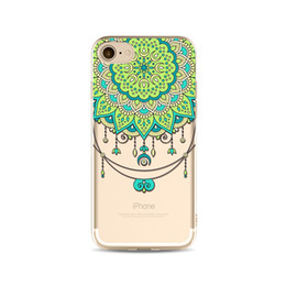 Chinese  2017 Henna White Floral Paisley Flower Mandala Printing Painting Phone Soft TPU Gel Clear Transparent Case For iPhone 5 5S SE 6 6S 7 7 Plus manufacturers