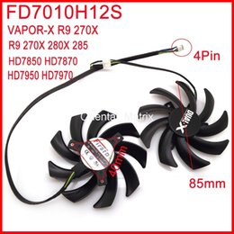 Free Cooling Fan Australia - Wholesale- Free Shipping 2pcs lot Firstdo FD7010H12S 85mm For Sapphire R9 280X VAPOR-X R9 270X HD7950 HD7970 Graphics Card Cooling Fan 4Pin