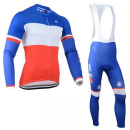 $enCountryForm.capitalKeyWord NZ - Pro Team FDJ Cycling Jerseys set Long Sleeve bike jacket ropa ciclismo mtb bicycle clothing quick dry Men cycling clothing C0424